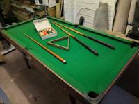 6 foot by 3 foot pool / snooker table