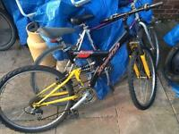 2 mountain bikes carboot clear out