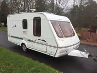Swift charisma 324 16ft 2 berth end changing area 2003 L shape lounge with drop style window
