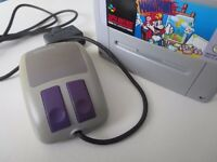 Super Nintendo Mouse Controller + Mario Paint game SNES