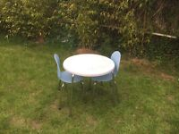 John Lewis child's table and 2x chairs