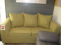 BRAND NEW 3 SEATER GREEN/ OLIVE SOFA BED FUNCTION