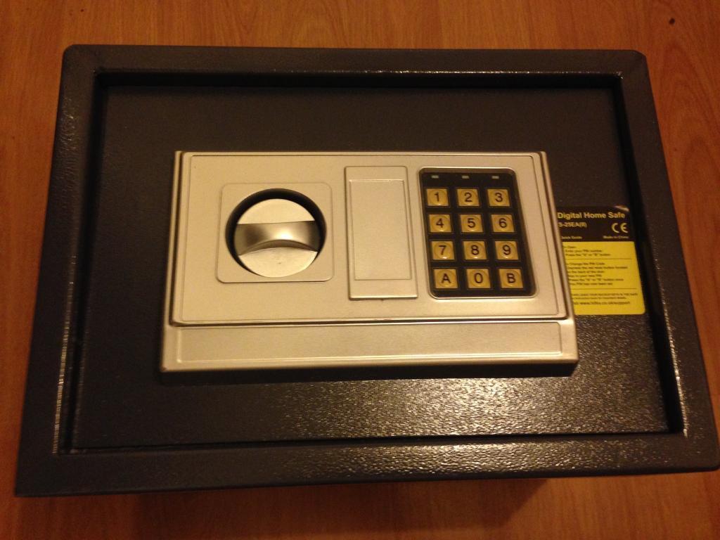 Home safe with digital code access & back up keys