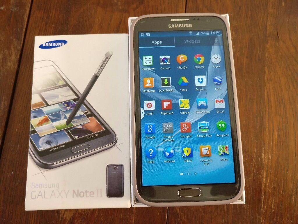 SAMSUNG GALAXY NOTE 2 N7100 PRISTINE CONDITION - TITANIUM GREY - 16GB - UNLOCKED