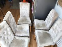 Silver Greg Dining Chairs x6