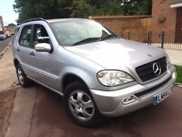 MERCREDES ML350 3.7 PETROL 2004 (54) AUTOMATIC LOW MILEAGE 2 FORMER OWNER CLEAN FULL SERVICE HSITORY