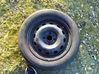 Vauxhall agila MK2 (b) 1.0 full size spare wheel with 185x60x15 continental tyre part warn £50