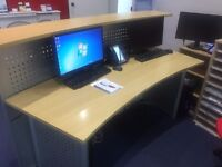 Large reception desk, brilliant condition, perfect for 2 people