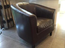 Brown leather chair / armchair