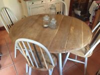 """Ercol/ Priory"" Style Dining Table & Quaker Chairs"