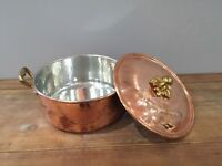 Copper Casserole Pot (D28cm) with Lid
