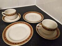 Sampson Bridgwood Vintage China: TEA TRIO (Cups, Saucers, Plates)