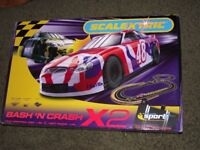 NEW + SEALED LARGE SCALEXTRIC BASH AND CRASH 2 SET , RARE TO FIND NOW