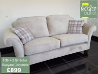 Designer Buoyant Constable fabric 3 + 2 seater sofas £899