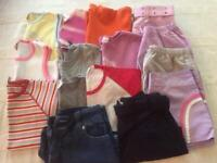 Bundle of Girls shorts and t shirts age 13