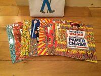 Wheres Wally Books 1 -7 with bag