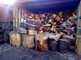 Spit logs for sale in 1 ton bags