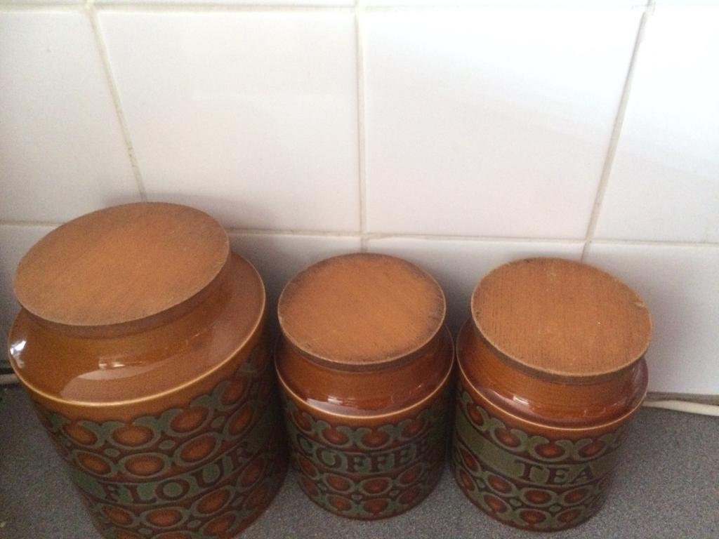Vintage set of pots tea coffee sugar
