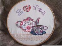 Hand Embroidery Hoop Applique
