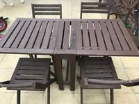 Patio set / outdoor table & chairs (can drop off if your local)