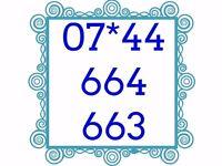 Mobile Sim Card Brand New Unused Gold Easy Memorable Number - 07*44 664 663 - £25