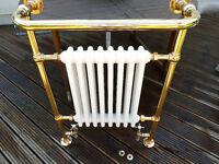 Towel Rail 66cm wide x 94ch high x 24cm deep Gold Rails Cast Iron Radiator