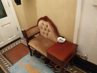 Vintage telephone table with seat