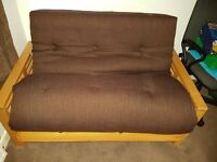 Futon Sofa Bed only used twice. As new condition. Sleeps two.