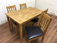 Oak kitchen table and chairs (free delivery)