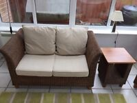 Conservatory furniture/ wicker base – excellent condition