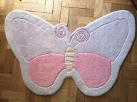 Butterfly rug - Hand tufted wool