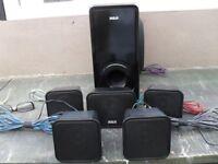 RCA 4 ohms - 5 SURROUND SOUND SPEAKERS PLUS WOOFER