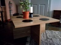 Excellent coffee table with storage stools