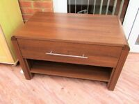 Coffee Table by Argos Heart of House Dark wood effect with drawer & undershelf Sittingbourne VGC