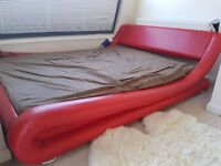 Beautiful Red Double Bed