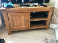Oak coffee table and tv stand