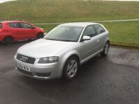 2005 AUDI A3 TDI SPORT 3 DOOR 1 YEARS MOT FULL SERVICE HISTORY PX WELCOME £1595