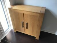 Modern light oak cabinet