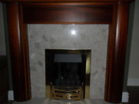 Fireplace and surround plus gas fire