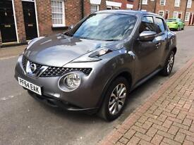 Nissan Juke 1.2. Leather upholstered. DIG-T tekna, 5dr, 64 reg (2015).