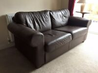 Free Ikea Brown Leather Sofa