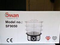SWAN SF9050 12-LITRE STEAMER...3 TIER........£15.....BRAND NEW..
