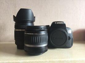 Canon 650D with lens bundle, Tamron lens 18-200mm, canon lens 18-48mm