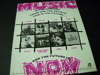 AUDIO TWO L'Trimm J.J. FAD Kwame NU GIRLS 1988 Rap Hip/Hop PROMO AD mint cond