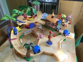 Jungle Junction play set with track.