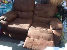 Reclining 2 seater sofa