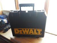 Dewalt 18V Drill Carry Case only ... Plastic Tool box ... NOT Tstak