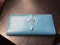 Hermes Paris Blue Leather Purse (wallet)