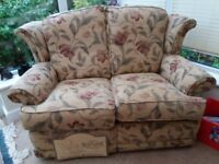 2 seater sofa and wing chair