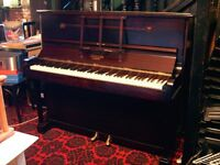 "PIANO BY ""CHALLEN"" OF LONDON. UPRIGHT. 7 OCTAVE SPAN FROM A TO A. DOWNWARD STRUNG. IN CONCERT PITCH"